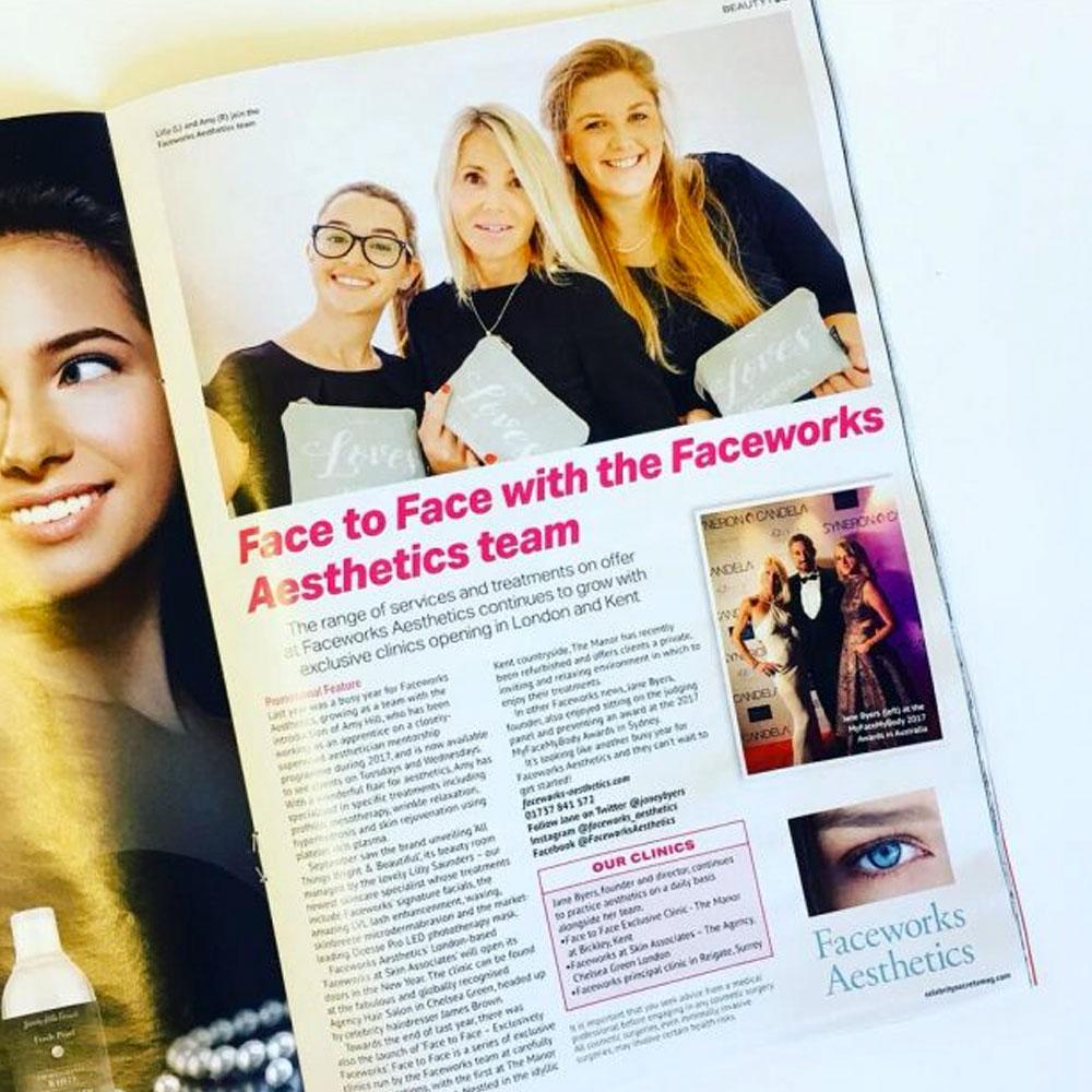 Faceworks in OK Magazine