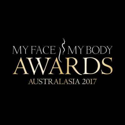 Jane Byers presents award at My Face My Body Aesthetics Awards